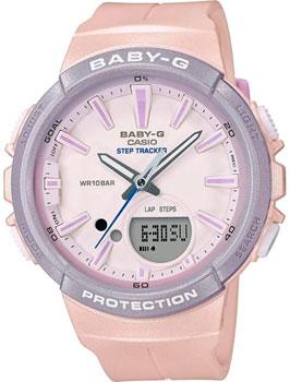 Японские наручные  женские часы Casio BGS-100SC-4A. Коллекция Baby-G