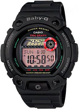 Японские наручные  женские часы Casio BLX-102-1E. Коллекция Baby-G