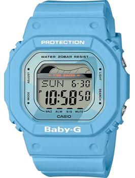 Японские наручные  женские часы Casio BLX-560-2E. Коллекция Baby-G