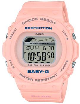 Японские наручные  женские часы Casio BLX-570-4ER. Коллекция Baby-G