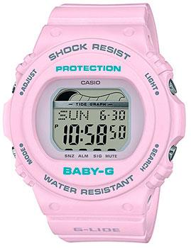 Японские наручные  женские часы Casio BLX-570-6ER. Коллекция Baby-G