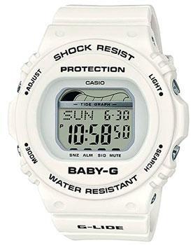 Японские наручные  женские часы Casio BLX-570-7ER. Коллекция Baby-G