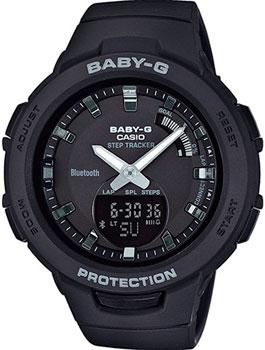 Японские наручные  женские часы Casio BSA-B100-1AER. Коллекция Baby-G