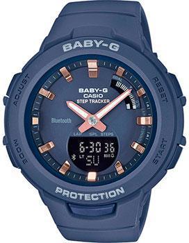 Японские наручные  женские часы Casio BSA-B100-2AER. Коллекция Baby-G