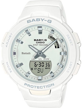 Японские наручные  женские часы Casio BSA-B100-7AER. Коллекция Baby-G