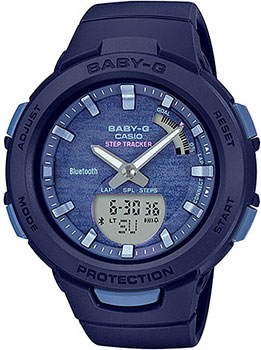 Японские наручные  женские часы Casio BSA-B100AC-2AER. Коллекция Baby-G