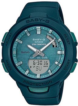 Японские наручные  женские часы Casio BSA-B100AC-3AER. Коллекция Baby-G