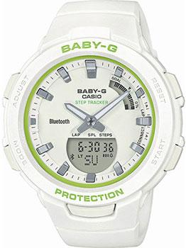 Японские наручные  женские часы Casio BSA-B100SC-7AER. Коллекция Baby-G