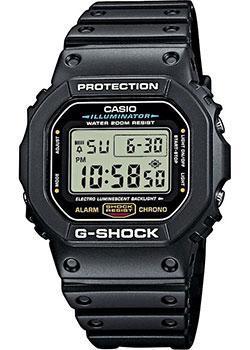 Японские наручные  мужские часы Casio DW-5600E-1V. Коллекция G-Shock