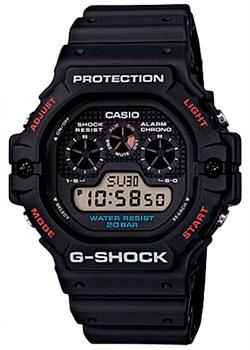 Японские наручные  мужские часы Casio DW-5900-1ER. Коллекция G-Shock