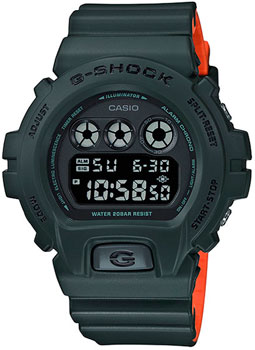 Японские наручные  мужские часы Casio DW-6900LU-3E. Коллекция G-Shock