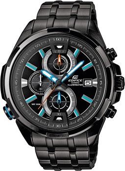 Японские наручные мужские часы Casio EFR-536BK-1A2. Коллекция Edifice