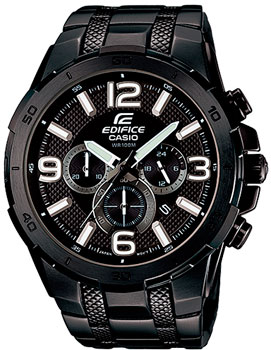 Японские наручные  мужские часы Casio EFR-538BK-1A. Коллекци Edifice