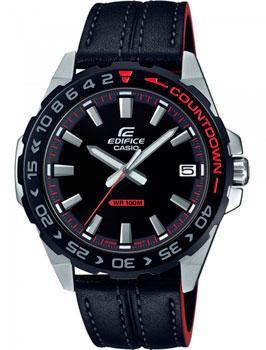 Японские наручные  мужские часы Casio EFV-120BL-1AVUEF. Коллекция Edifice