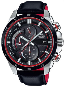 Японские наручные мужские часы Casio EQS-600BL-1A. Коллекция Edifice фото