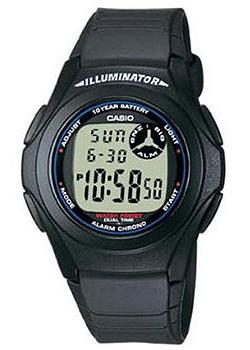 Японские наручные  мужские часы Casio F-200W-1A. Коллекция Digital