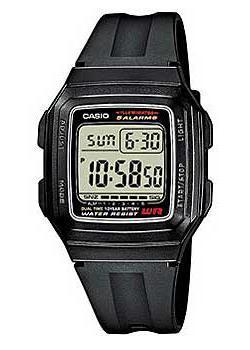 Японские наручные  мужские часы Casio F-201WA-1A. Коллекция Digital