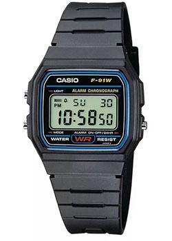 Японские наручные  мужские часы Casio F-91W-1Q. Коллекция Digital