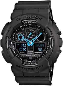 Японские наручные мужские часы Casio GA-100C-8A. Коллекция G-Shock фото