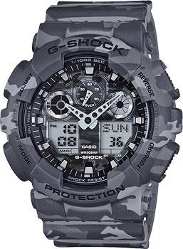 Японские наручные  мужские часы Casio GA-100CM-8A. Коллекция G-Shock
