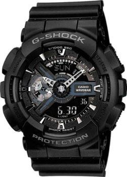 Японские наручные  мужские часы Casio GA-110-1B. Коллекция G-Shock