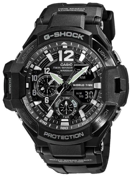 Японские наручные мужские часы Casio GA-1100-1A. Коллекция G-Shock Premium