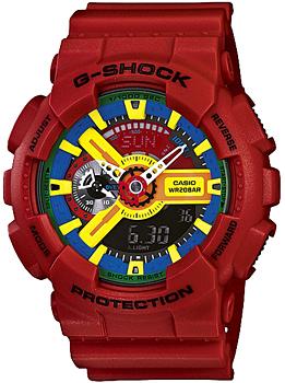 Японские наручные мужские часы Casio GA-110FC-1A. Коллекция G-Shock