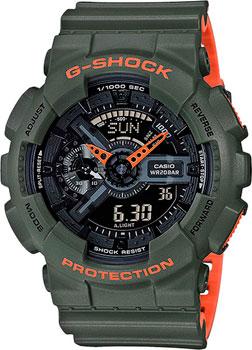 Японские наручные  мужские часы Casio GA-110LN-3A. Коллекция G-Shock.