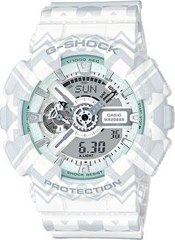 Японские наручные  женские часы Casio GA-110TP-7A. Коллекция G-Shock