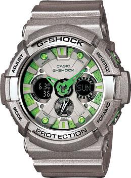 Японские наручные  мужские часы Casio GA-200SH-8A. Коллекция G-Shock