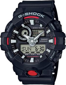 Японские наручные мужские часы Casio GA-700-1A. Коллекция G-Shock фото
