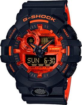 Японские наручные мужские часы Casio GA-700BR-1AER. Коллекция G-Shock фото