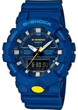 Японские наручные  мужские часы Casio GA-800SC-2A. Коллекция G-Shock