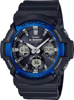 Японские наручные мужские часы Casio GAW-100B-1A2. Коллекция G-Shock фото