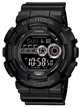 Японские наручные  мужские часы Casio GD-100-1B. Коллекция G-Shock