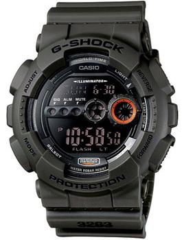 Японские наручные  мужские часы Casio GD-100MS-3E. Коллекция G-Shock