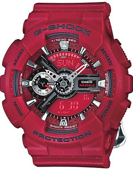 Японские наручные  мужские часы Casio GMA-S110F-4A. Коллекция G-Shock