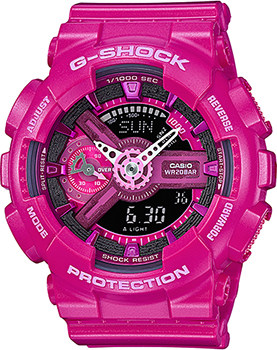 Японские наручные  женские часы Casio GMA-S110MP-4A3. Коллекция G-Shock.