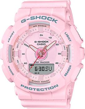 Японские наручные женские часы Casio GMA-S130-4A. Коллекция G-Shock фото