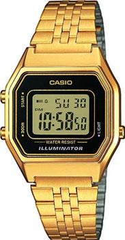 Японские наручные  женские часы Casio LA-680WEGA-1E. Коллекция Standart Digital