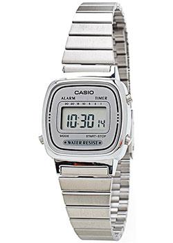 Японские наручные  женские часы Casio LA670WEA-7E. Коллекция Digital