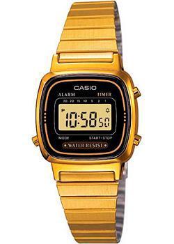Японские наручные  женские часы Casio LA670WEGA-1E. Коллекция Digital
