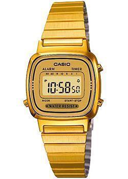 Японские наручные  женские часы Casio LA670WEGA-9E. Коллекция Digital