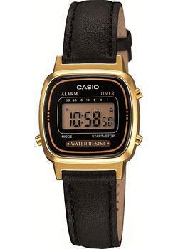 Японские наручные  женские часы Casio LA670WEGL-1E. Коллекция Digital