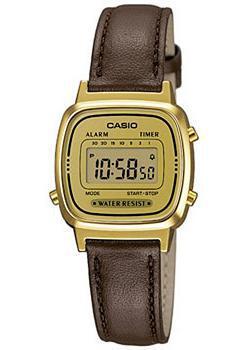 Японские наручные  женские часы Casio LA670WEGL-9E. Коллекция Digital