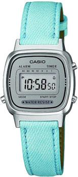 Японские наручные  женские часы Casio LA670WEL-2A. Коллекция Standart Digital