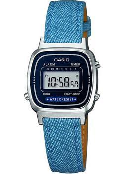 Японские наручные  женские часы Casio LA670WEL-2A2. Коллекция Digital