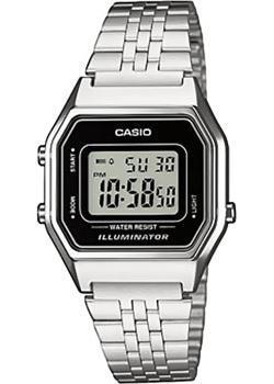 Японские наручные  женские часы Casio LA680WEA-1E. Коллекция Digital