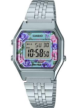 Японские наручные  женские часы Casio LA680WEA-2C. Коллекция Digital