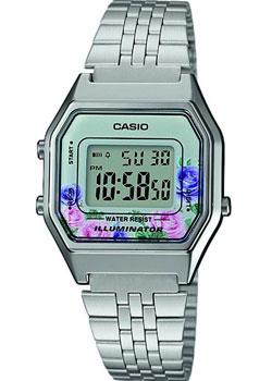Японские наручные  женские часы Casio LA680WEA-4C. Коллекция Digital